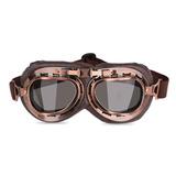 2daf4c031be5e Óculos Aviador Marrom Retro Lente Fumê Moto Custom Vintage