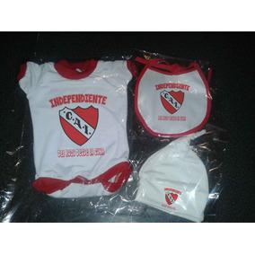 Independiente Ajuar Kit Futbol Bebe X3 Prendas Body +extras