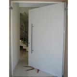 Porta De Alumínio Pivotante 210 X 110 Acabamento Redondo