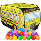 Carpa Infantil Bus Escolar +50 Pelotas Juguetes Fiestaclub