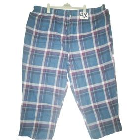 Pantalon Pijama Cuadro Azul/guinda Hombre Talla 4x Joe Boxer