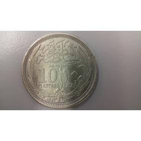 Moeda Egito Prata 10 Piastres 1917