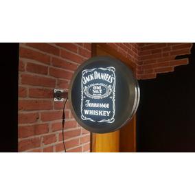 Luminoso Jack Daniels Dupla Face Aço Bar Cerveja Frete Grát