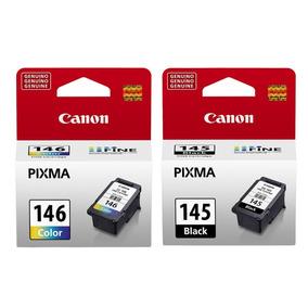 Pack Cartuchos Canon Pg-145 Bk + Cl-146 Clr Originales