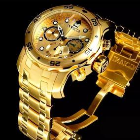 83cafe68ee5 Invicta Pro Diver 0074 Banhado A Ouro 18k Original Na Caixa ...