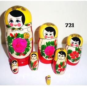 Bonecas Russas Matrioska 721 7peças 18-20cm Mamuska Frete G