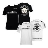 Kit 2x Camiseta Padrão - Branca / Preta - Black Skull