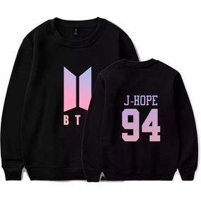 81ea0f1a125d0 Blusa Moletom Bts Kpop Novo Logo Army E Bts J-hope 94