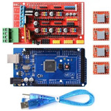 Kit Ramps 1.4 + Arduino Mega + 4 Drivers A4988 Impresora 3d