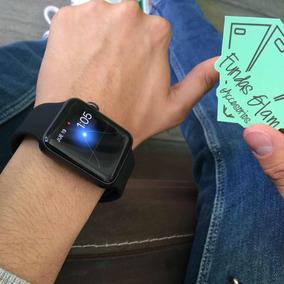Correa De Silicon Negra Para Apple Watch De 42mm