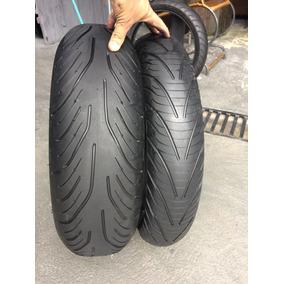 Pneus 120/70/17 E 180/55/17 Michelin Road 4 Usados Hornet