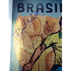Postal 1958 Autógrafo Pelé Original E. U. A. Copa 94 13x9cm