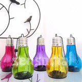 5 Porta Velas Castiçal De Vidro Lampada Decorativa Colorida