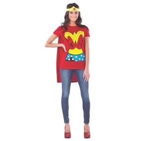 Disfraz De La Mujer Maravilla Dc Comics Camiseta Cdmx Df