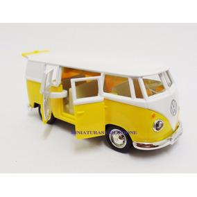 Miniatura Volkwagen Kombi 1962 Amarela Escala 1:32 Rmz