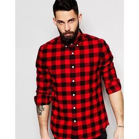 a56ec7b9fbe2e Colores Escocesa Camisa Leñadora Entallada Talles Hombre 7FZZYq