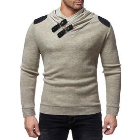 Suéter Color Contrastar Hombres