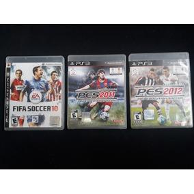 Lote 3 Jogos Playstation 3 Fifa 2010 Pes 2011 E Pes 2012