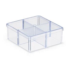 40 Caixa Acrílico 7x7 Organizadora Divisórias Lembrancinha