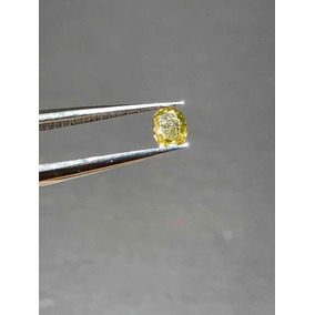Diamante 0.12ct. Amarillo, Natural.