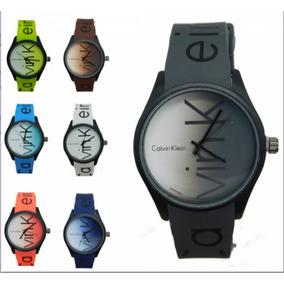 01df1989b5936 Relogio Calvin Klein Pulseira De Borracha - Relógios no Mercado ...