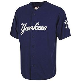 Jersey Hombre Ny Yankees Mffr183bnk Gris-marino Envio Gratis
