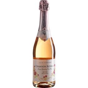 Espumante Francês Chanson Royale Brut Rosé Garrafa 750ml