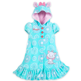 Roupa De Bebe Menina Vestido Gatinha Marie C/ Capuche Disney