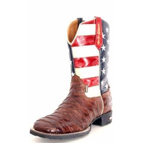 Bota Masculina Country Texana Escamada Americana Couro