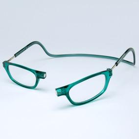 Óculos Clic Leitor Nylon Com Ímã Verde Prático E Leve Lindo ... 48ba77b77e