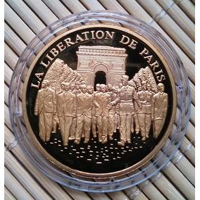 Medalha A Libertação De Paris - 2ºgm - França - Frete Grátis