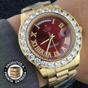 0d82eebc366 Relogio Cravejado Masculino - Joias e Relógios no Mercado Livre Brasil