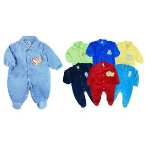Atacado C/ 6 Macacão Bebê Plush - Meninos Maternidade P M G