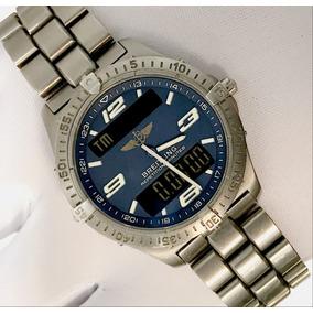 b2a1a07bc03 Relógio Breitling Aerospace Titanium - Relógios no Mercado Livre Brasil