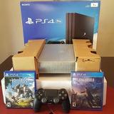 Playstation 4pro 1tb Sellado Con Garantía Y 10 Juegos Gratis