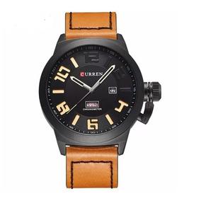 Relógio Masculino Curren 8270, De Couro, Frete Grátis