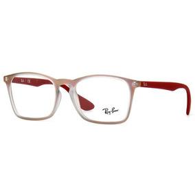 199bf1d4fb291 Armação Oculos Grau Ray Ban Rb7045 5485 53 Vermelho Transluc