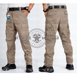 Pantalón De Bolsas Táctico Comando Gabardina De Cargo Kaki