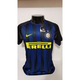 e5a160c488 Camisa Internazionale Home 16-17 Jovetic 10 Patch Calcio