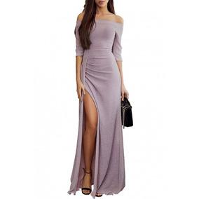 Sexy Elegante Vestido Largo Fiesta Noche Lapiz Brillo 610934