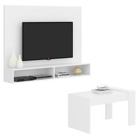 Combo De Panel + Mesa De Centro Blanco Satin 2510.0001