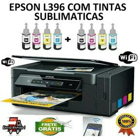 Multifuncional Epson L396 + 8 Refil De Tintas Sublimaticas