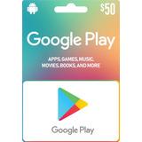 Google Play Store 50 Usd Código De Recarga