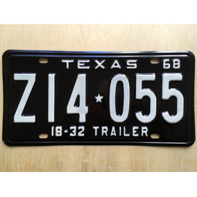 Placa De Carro Americano - Texas - Usa - Original 1968