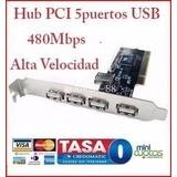 Hub Adaptador Pci 480mbps 5 Puertos Usb 2.0 Pc Interno Galax