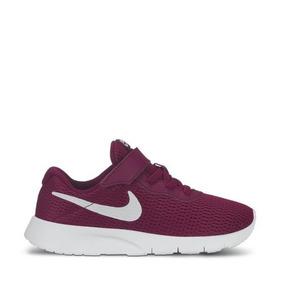 Tenis Casual Nike Tanjun Gpv Color Vino Para Niña Nx1075 A