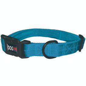 Collar Perro Nylon Dogline, Grande, Color: Celeste