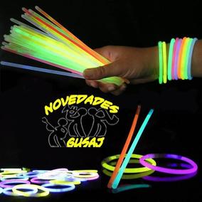 100 Pulseras Luminosas Cyalume Neon Boda Xv Años Fiesta $155