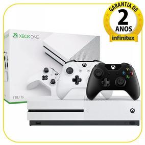 Console Xbox One S 1tb Branco 2 Controles 2 Anos De Garantia
