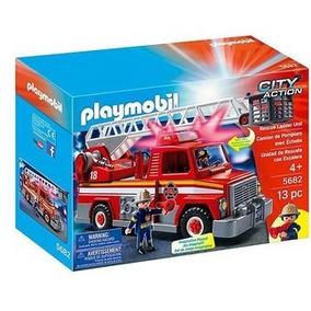 Playmobil 5682 5980 Camion Bomberos Con Escalera Orig Intek
